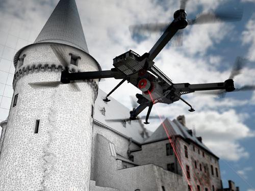 Titel Drohnen-Scan Burg Vianden