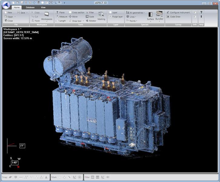 Vermessung Transformator aspect3d