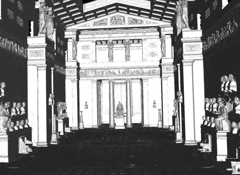 Walhalla 3D-Ansicht Innenraum