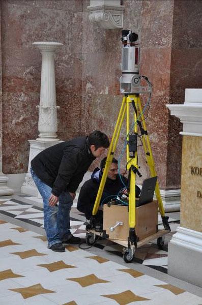Walhalla Laserscanning Innen