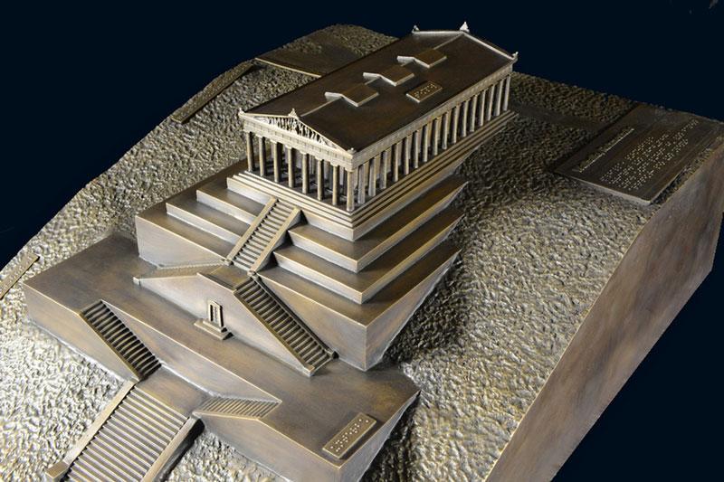 Walhalla Bronzemodell Architekturmodell