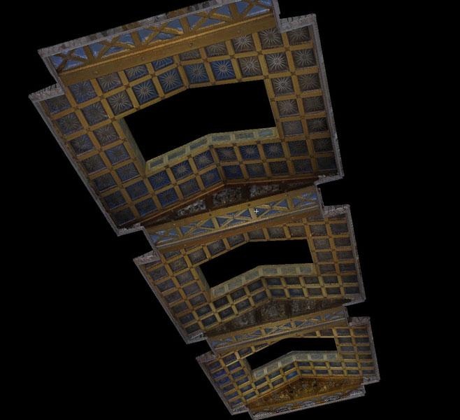 Walhalla Decke texturiertes Modell