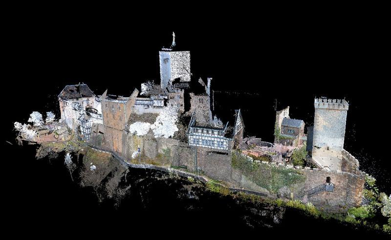 Wartburg 3D-Gesamtpunktwolke