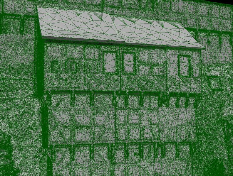 Wartburg 3D-Modell Bereich B Wireframe