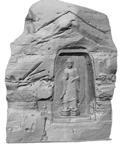 Buddha Sakyamuni 3D-Modell schattiert