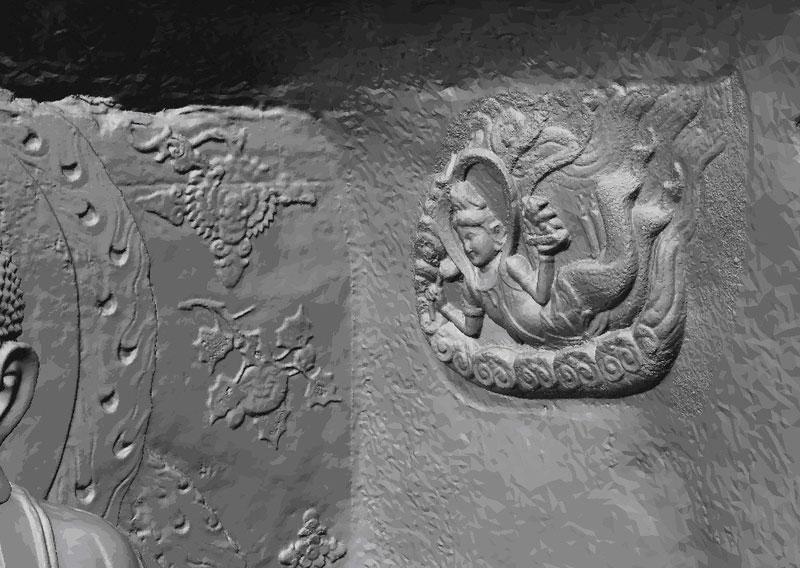 Buddha Sakyamuni Detailansicht 3D-Modell