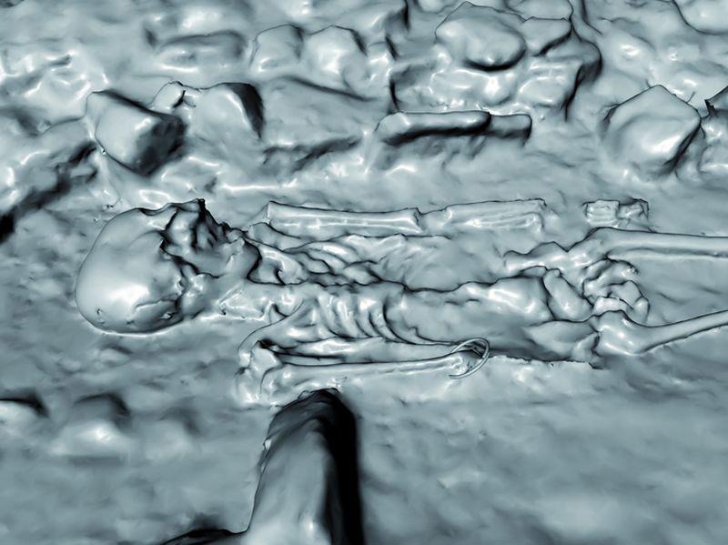 Frühkeltische Kinder-Doppelbestattung 3D-Modell