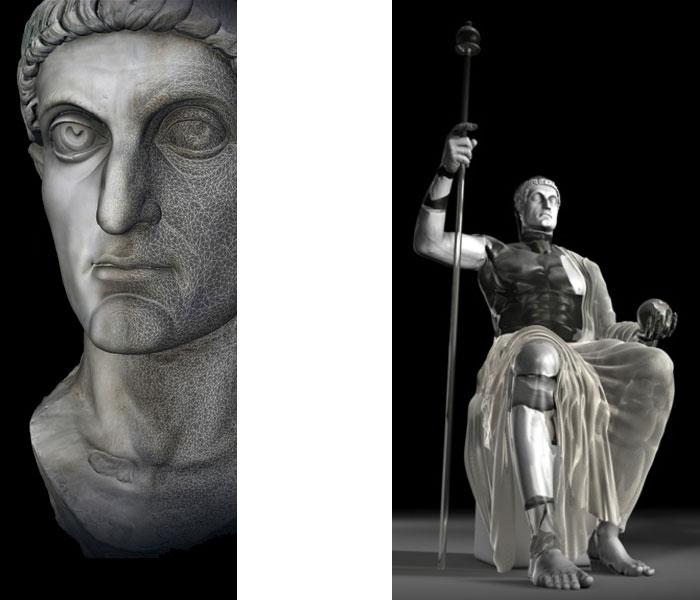 Kaiser Konstantin 3D-Modell