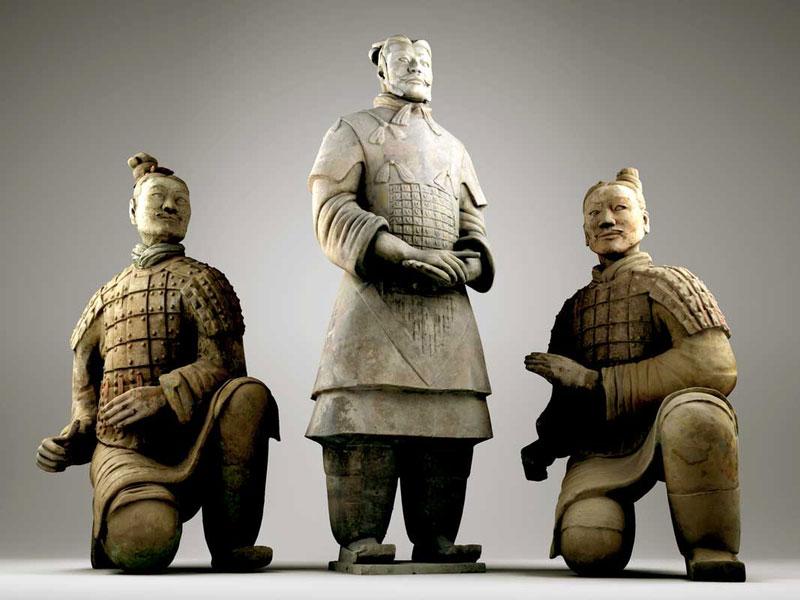 Terrakotta-Krieger Figuren