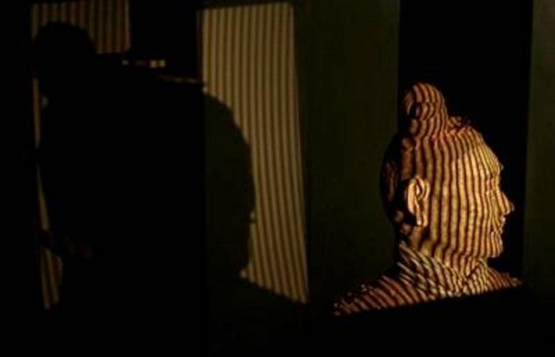 Terrakotta-Krieger Streifenlicht