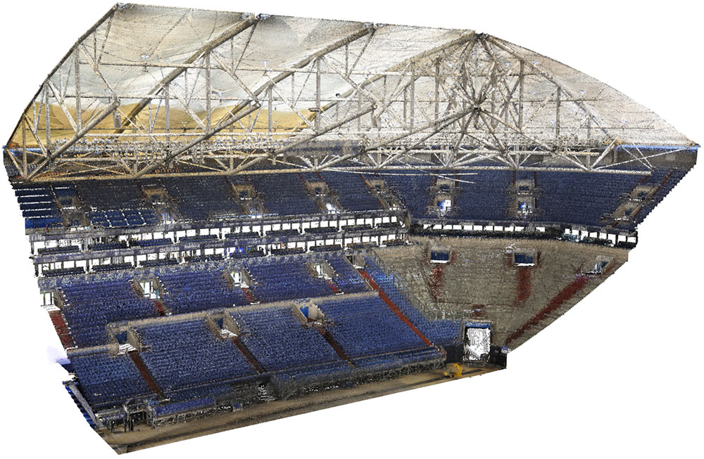 Veltins Arena Punktwolke Nord-West