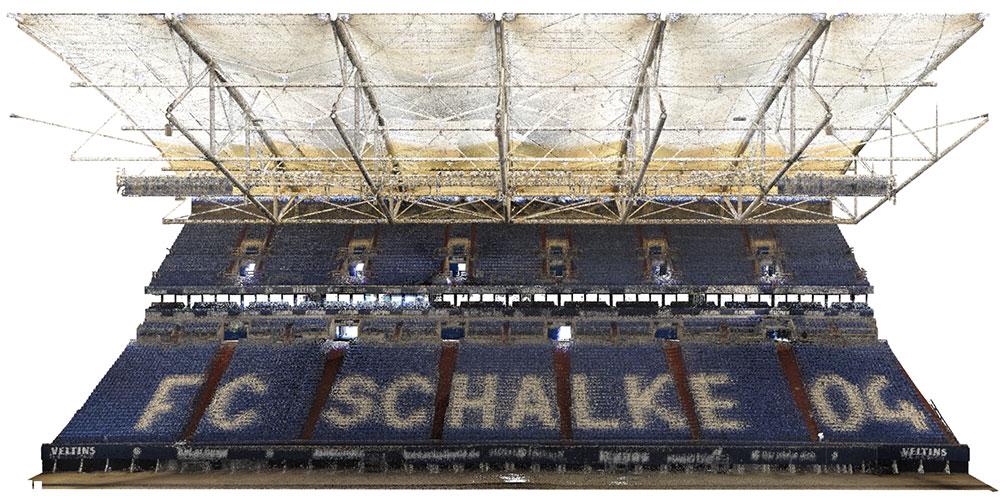 Veltins Arena Punktwolke Osttribüne