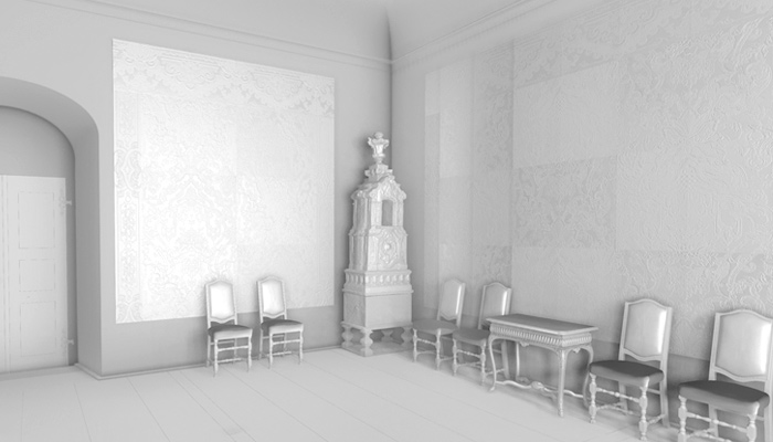 From laser scan and photogrammetry data 3D renderings in real-time environment