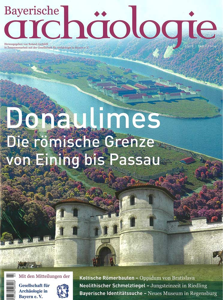 "The current issue ""Bayerische Archäologie"" shows some of our reconstruction proposals and graphics of the Roman fort Boiotro, Passau."