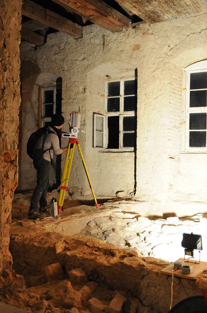 3D-Aufmaß mittels Laserscanning von historischen Gewölben und Innenräumen