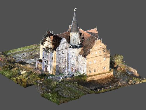 3D-Modell Wasserschloss Oberau
