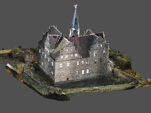 3D-Punkwolke Wasserschloss Oberau