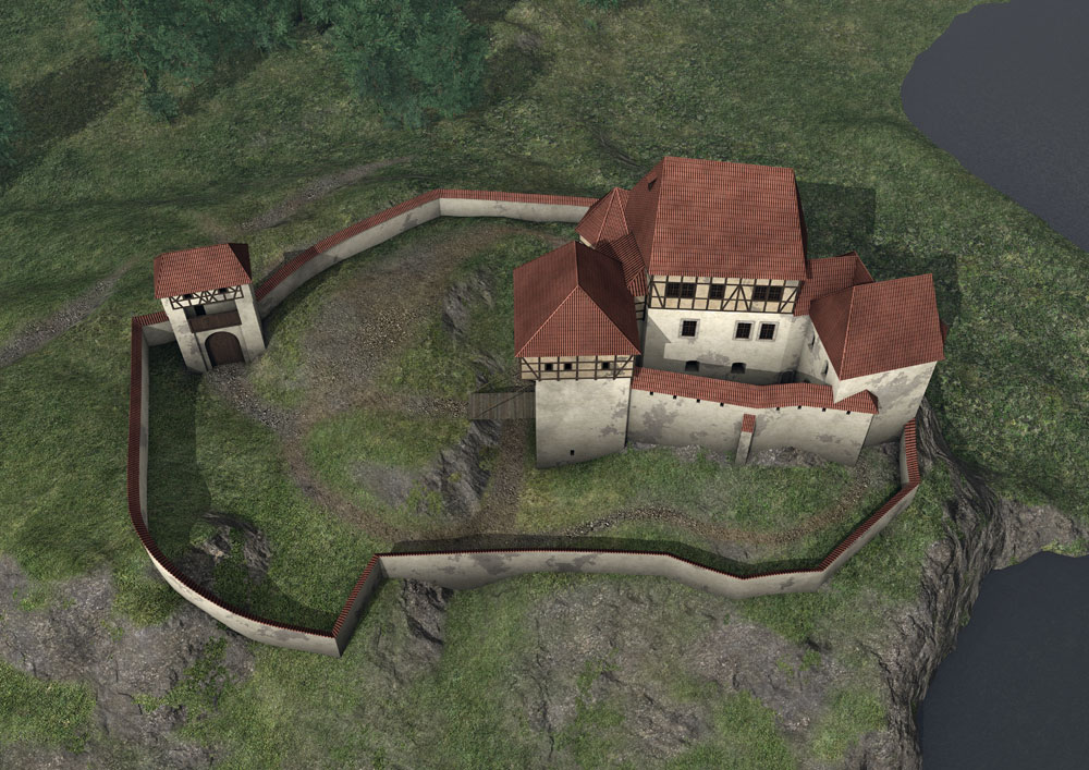 Reconstruction of the castle around 1618