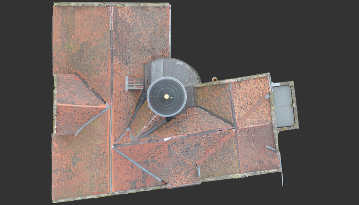 Orthophoto of the roof