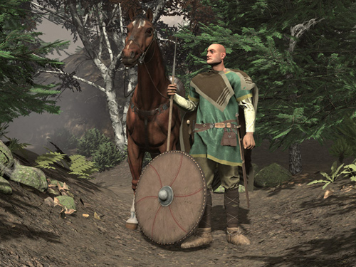 Alemannic warrior in VR