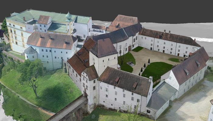 Veste Oberhaus Passau, 3D model top view