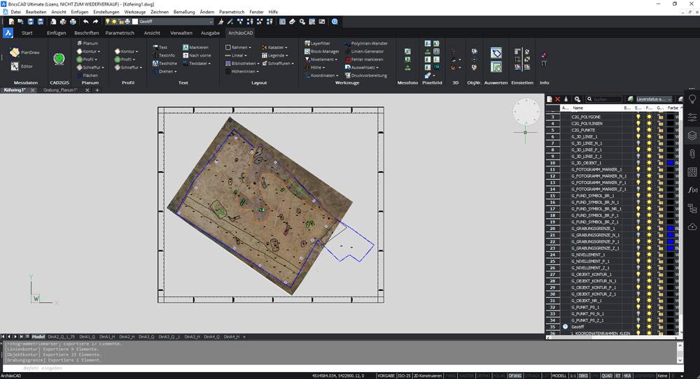 Plan im CAD - Übersicht