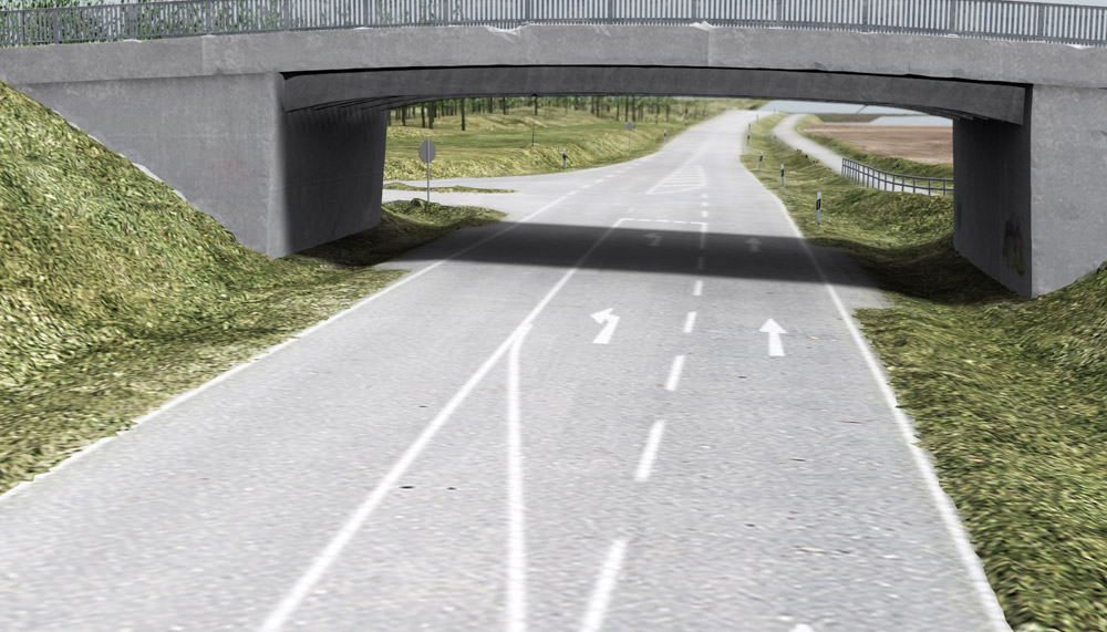 Rendering of the test track