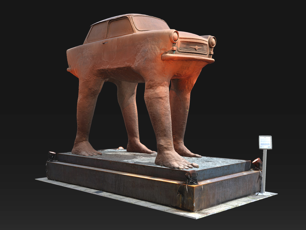 Digital 3D Model of the scanned sculpture on Sketchfab