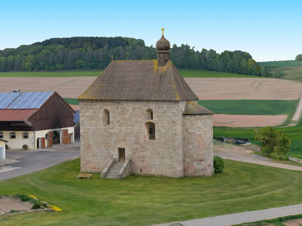 3D modell of the St. Aegidius church in Schoenfeld
