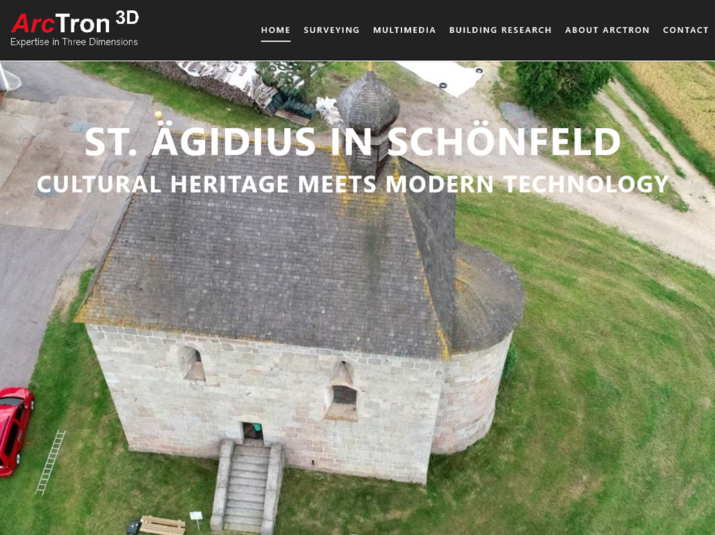 Website to present the monument St. Aegidius church in 3D