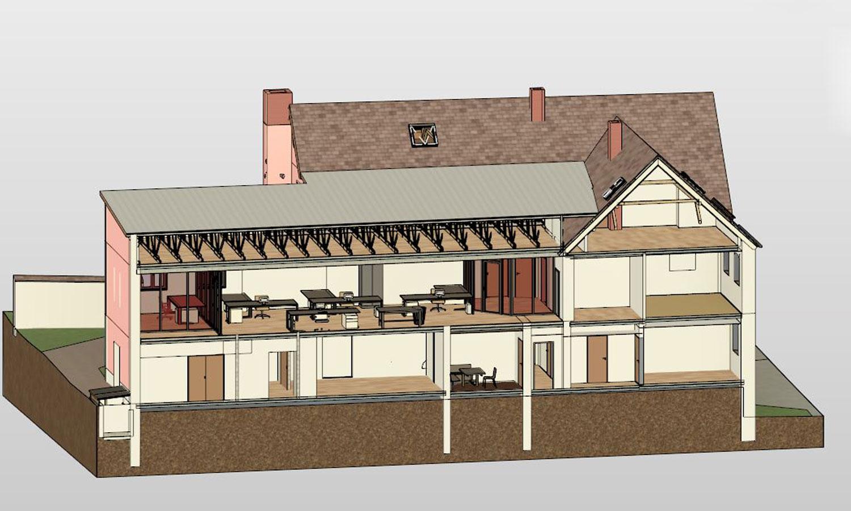 3D-Architekturvermessung Schnitt Innenansicht