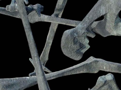 3D measurement Dauchau concentration camp sculpture