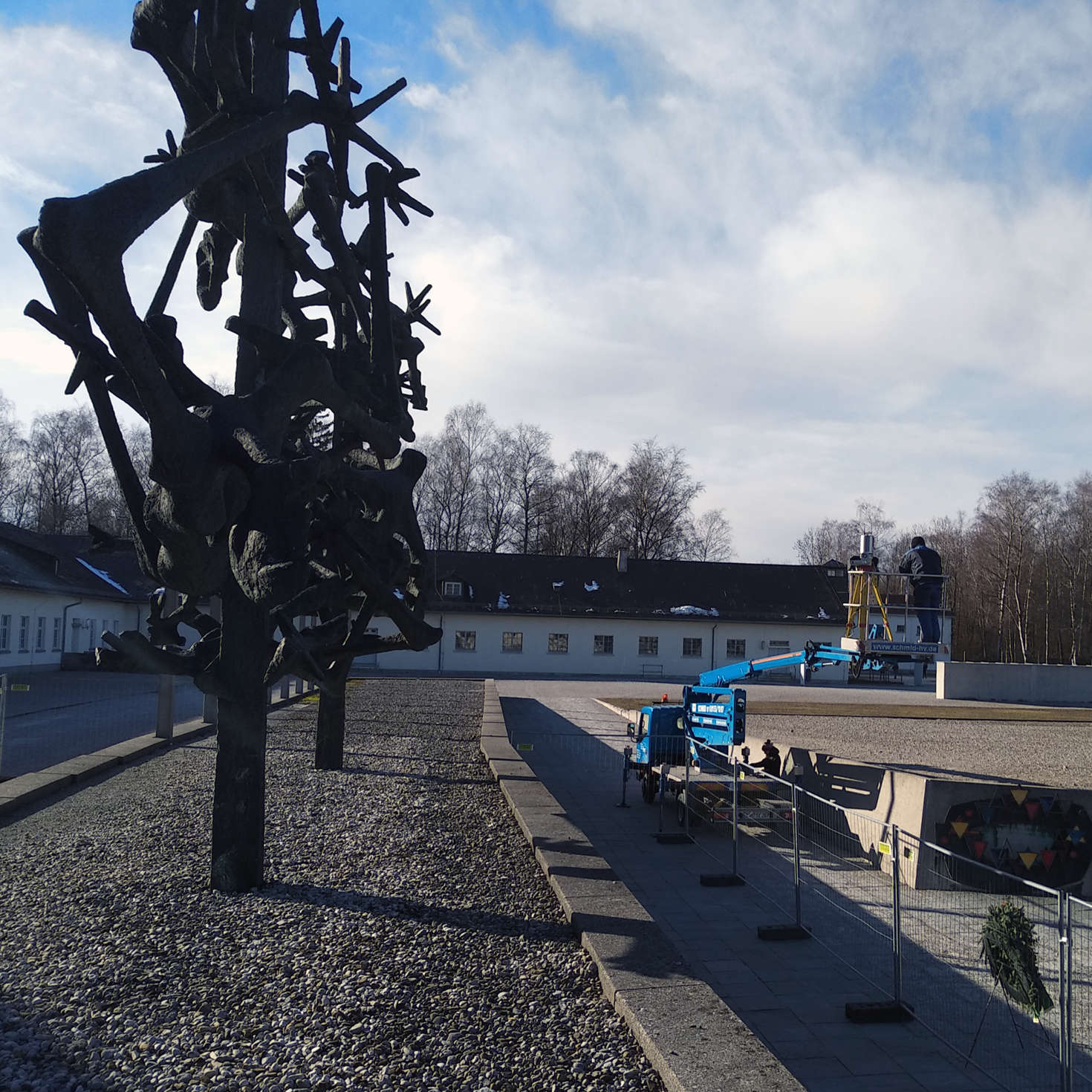 3D laserscanning the concentration camp memorial in Dachau