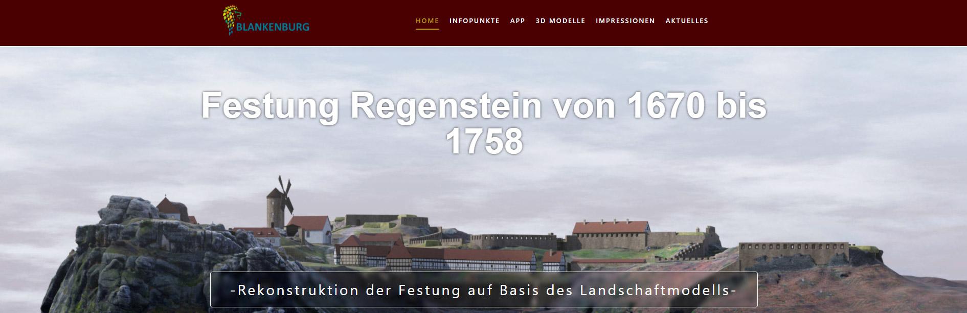 Webseite https://denkmal.arctron.de/festung-regenstein/