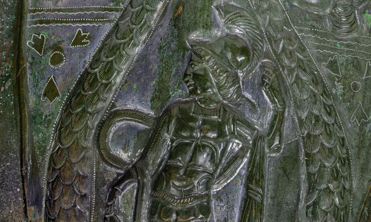 Römischer Fund Beinschiene (Bildausschnitt - Photogrammetrische 3D-Dokumenation) - BLfD/Historisches Museum Regensburg